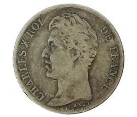 Monnaie, France , 1 franc, Charles X, Argent, 1826, Strasbourg (BB), P10244
