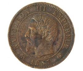 Monnaie, France , 1 centime, Napoléon III, Bronze, 1857, Lille (W), P10363