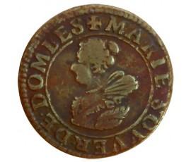 Monnaie, Dombes, Double tournois, Marie de Montpensier, Cuivre, 1627, Trévoux, P11295