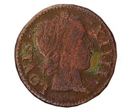 Monnaie, France , Denier tournois, Louis XIV, Cuivre, 1649, Paris (A), P11300