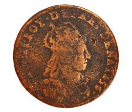 Monnaie, France , Liard au buste juvénile, Louis XIV, Cuivre, 1656, Meung sur Loire (E), P11304