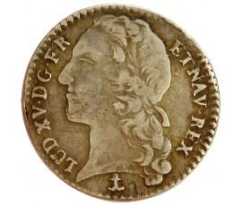 Monnaie, France , 1/10 écu au bandeau, Louis XV, Argent, 1740, Montpellier (N), P11322