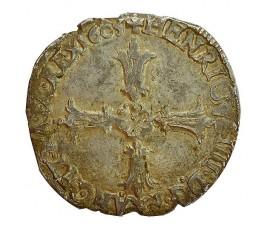 Monnaie, France , 1/4 écu croix feuillue de face, Henri IV, Argent, 1605, Nantes (T), P11330