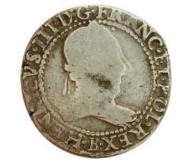 Monnaie, France , Franc au col plat, Henri III, Argent, 1578, Rouen (B), P11333