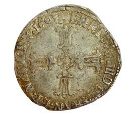 Monnaie, France , 1/4 écu croix feuillue de face, Henri IV, Argent, 1603, Bordeaux (K), P11337