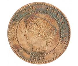 Monnaie, France , 2 centimes Cérès, IIIème République, Bronze, 1877, Paris (A), P10379