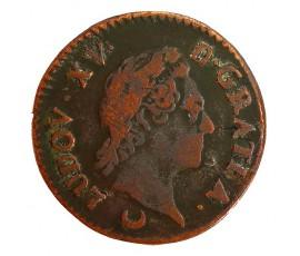 Monnaie, France , 1/2 sol à la vieille tête, Louis XV, Cuivre, 1774, Metz (AA), P11385