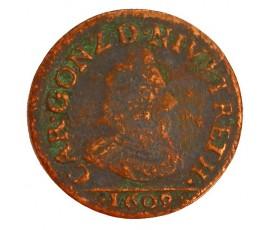 Monnaie, Ardennes, Liard, Charles Ier de Gonzague, Cuivre, 1609, Charleville, P11389