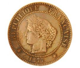 Monnaie, France , 2 centimes Cérès, IIIème République, Bronze, 1877, Paris (A), P10380
