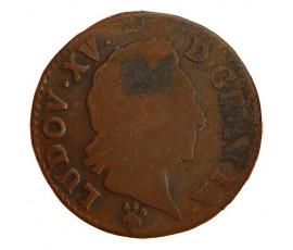 Monnaie, France , 1/2 sol à la vieille tête, Louis XV, Cuivre, 1771, Reims (S), P11402
