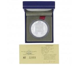 Monnaie, France , 15 écus / 100 francs BE Charlemagne, Monnaie de Paris, Argent, 1990, Pessac, P11425