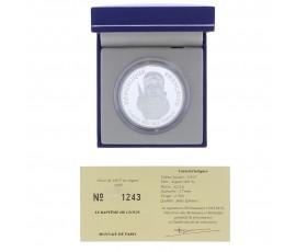 Monnaie, France , 100 francs BE Baptême de Clovis, Monnaie de Paris, Argent, 1996, Pessac, P11426