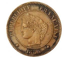 Monnaie, France , 2 centimes Cérès, IIIème République, Bronze, 1885, Paris (A), P10385