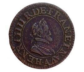 Monnaie, France , Double tournois, Henri IV, Cuivre, 1607, Paris (A), P11434
