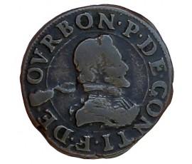 Monnaie, Château-Regnault, Double tournois, François de Bourbon-Conti, Cuivre, N.d., Château-Regnault, P11439