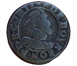 Monnaie, Château-Regnault, Double tournois, François de Bourbon-Conti, Cuivre, N.d., Château-Regnault, P11440