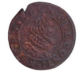 Monnaie, Château-Regnault, Double tournois, François de Bourbon-Conti, Cuivre, N.d., Château-Regnault, P11441