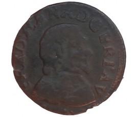 Monnaie, Orange, Double tournois, Fréderic-Henri de Nassau, Cuivre, 1642, Orange, P11443