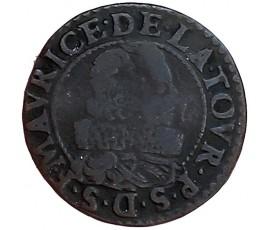 Monnaie, Sedan, Double tournois, Fréderic-Maurice de la Tour d'Auvergne, Cuivre, 1632, Sedan, P11445