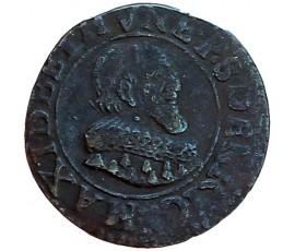 Monnaie, Boisbelle-Henrichemont, Double tournois, Maximilien Ier de Béthune, Cuivre, 1636, Henrichemont, P11446