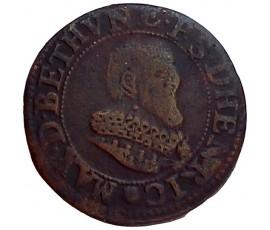 Monnaie, Boisbelle-Henrichemont, Double tournois, Maximilien Ier de Béthune, Cuivre, 1637, Henrichemont, P11447