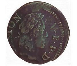 Monnaie, Dombes, Denier tournois, Gaston d'Orléans, Cuivre, 1654, Trévoux, P11449