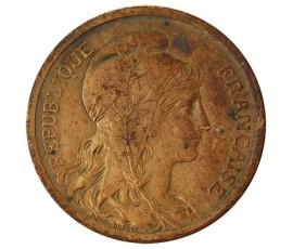 Monnaie, France , 2 centimes Daniel Dupuis, IIIème République, Bronze, 1907,, P10392