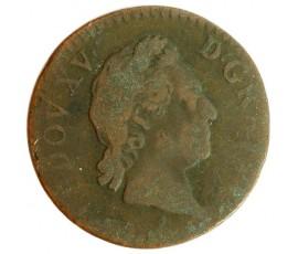 Monnaie, France , Demi sol  à la vieille tête, Louis XV, Cuivre, 1768, Paris, P11561