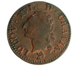 Monnaie, France , Liard, Louis XVI, Cuivre, 1791, Rouen (B), P11563