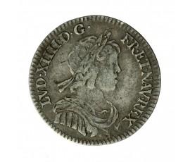 Monnaie, France , 1/12 écu à la mèche courte, Louis XIV, Argent, 1644, Paris (A), P11614
