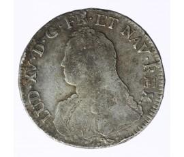 Monnaie, France , Ecu aux branches d'olivier, Louis XV, Argent, 1734, Bayonne (L), P11684