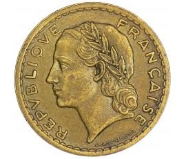 Monnaie, France , 5 francs Lavrillier, Gouvernement provisoire, Bronze-aluminium, 1946,, P10521