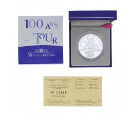 Monnaie, France , 1 € 1/2 BE 100 ans du tour, Monnaie de Paris, Argent, 2003,, P11801