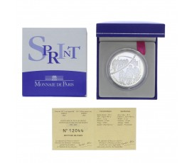 Monnaie, France , 1 € 1/2 BE sprint, Monnaie de Paris, Argent, 2003,, P11802