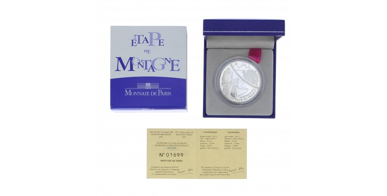 Monnaie, France , 1 € 1/2 BE étape de montagne, Monnaie de Paris, Argent, 2003,, P11804