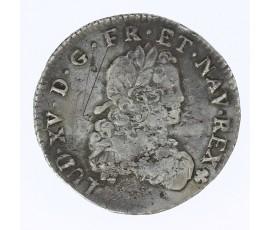 Monnaie, France , 1/3 écu de France , Louis XV, Argent, 1722, Troyes (V), P11833