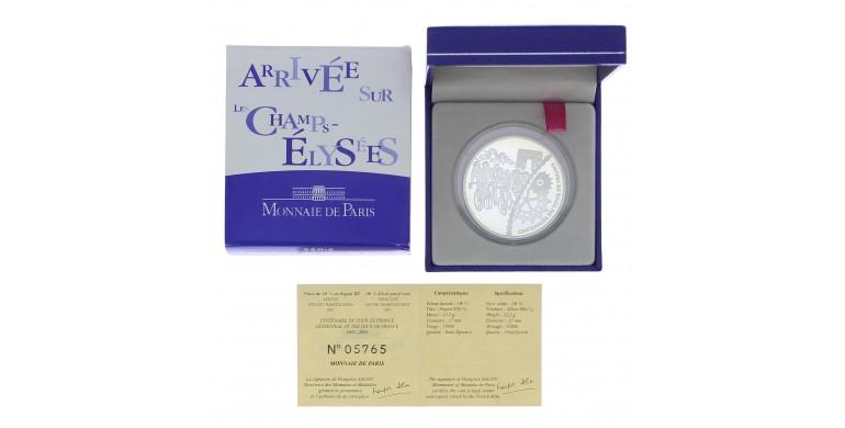 Monnaie, France , 1 € 1/2 BE arrivée sur les Champs-Elysées, Monnaie de Paris, Argent, 2003,, P11892