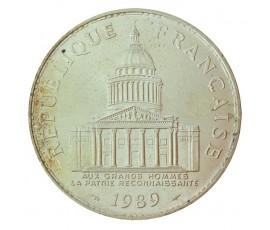 Monnaie, France , 100 francs Panthéon, Vème République, Argent, 1989, Paris (A), P10572