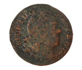 Monnaie, Lorraine, Liard de lorraine, Léopold Ier, Cuivre, 1727, Nancy, P10029