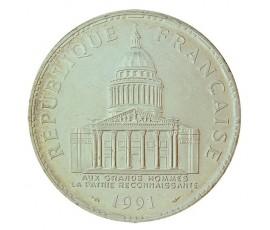Monnaie, France , 100 francs Panthéon, Vème République, Argent, 1991, Paris (A), P10574