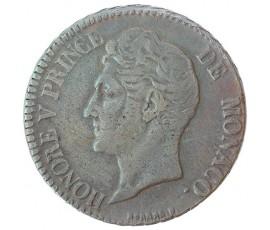 Monnaie, Monaco, 5 centimes, Honoré V, Cuivre, 183…., Monaco (bonne foi), P10629