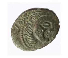 Monnaie, Gaulois, Statère à la joue ornée , Abrincates, Billon, 60/50 AC, Cotentin, P12274