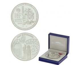 Monnaie, France , 1 € BE Art gothique, Monnaie de Paris, Argent, 1999, Pessac, P10681
