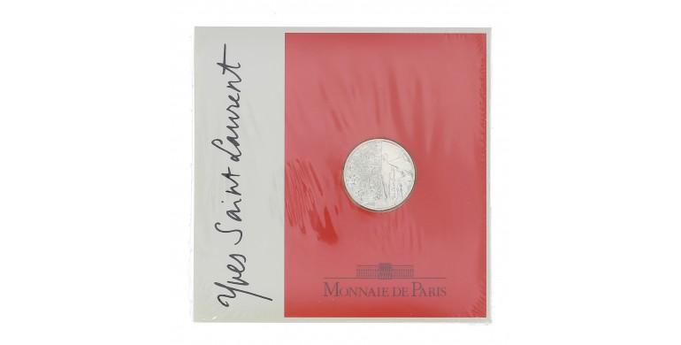 Monnaie, France , 5 francs BU Yves Saint Laurent, Monnaie de Paris, Argent, 2000, Pessac, P12295