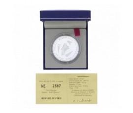 Monnaie, France , 100 francs BE Jeux Paralympiques Albertville, Monnaie de Paris, Argent, 1992, Pessac, P12302