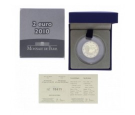 Monnaie, France , 2 € BE 70ème anniversaire de l'appel du 18 juin, Monnaie de Paris, Cupronickel, 2010, Pessac, P12306