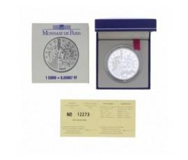 Monnaie, France , 1 € BE europa - la monnaie de la parité, Monnaie de Paris, Argent, 1999, Pessac, P12308