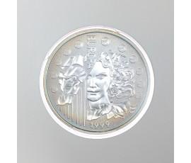 Monnaie, France , 1 € BU Europa, Monnaie de Paris, Argent, 1999, Pessac, P10685