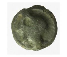Monnaie, Gaulois, Potin à la tête diabolique casquée et au taureau, Turones, Potin gris, 80/50 AC, Touraine, P12333