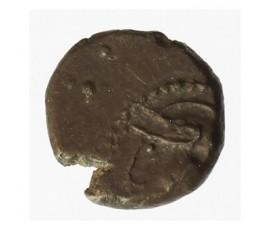 Monnaie, Gaulois, Quinaire type  ka_ete_o_ à la légende incomplète et monogrammatique, Lingons, Argent, 80/50 AC, Limoges, P1233